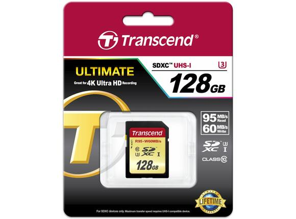 Флаш карта Transcend 128GB SDXC UHS-I U3 Card - 3