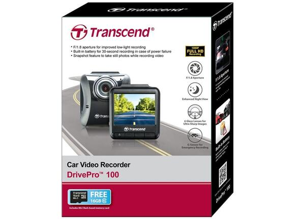 "Уеб камера Transcend Car Camera Recorder 16GB DrivePro 2.4"" LCD - 6"