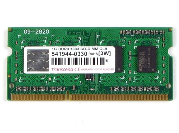Памет Transcend 1GB 204pin SO-DIMM DDR3 PC1333 CL9