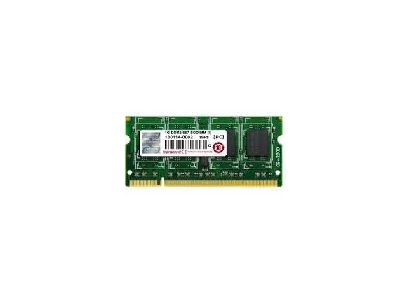 Памет Transcend 1GB 200pin SO-DIMM DDR2 PC667 CL5 Gold Lead - 2