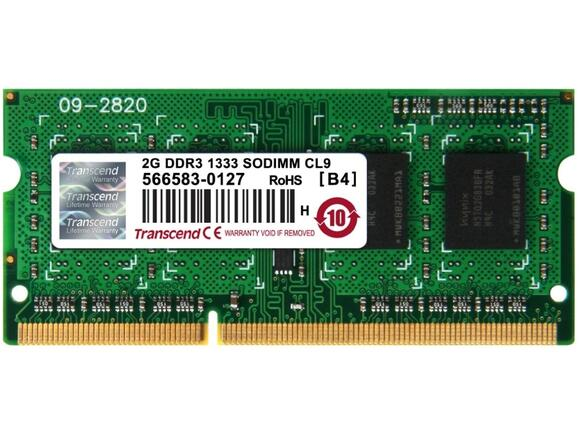 Памет Transcend 2GB 204pin SO-DIMM DDR3 PC1333 CL9