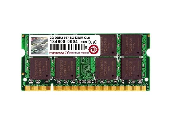 Памет Transcend 2GB JetRam 200Pin SO-DIMM PC667 CL5 (Bulk) Gold Lead - 2