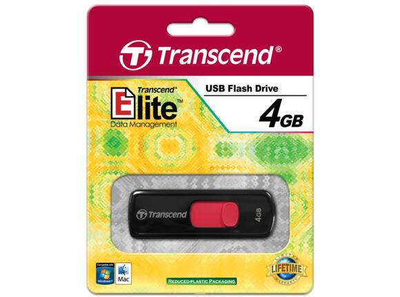Флаш памет Transcend 4GB JETFLASH 500 (Red) - 4