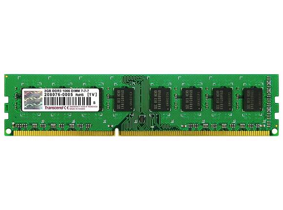 Памет Transcend 2GB 240pin DIMM DDR3 PC1066 CL7