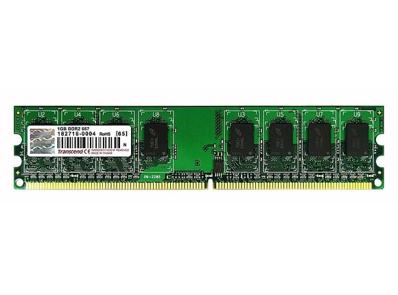 Памет Transcend 1GB 240pin DIMM DDR2 PC667 CL5 Gold Lead