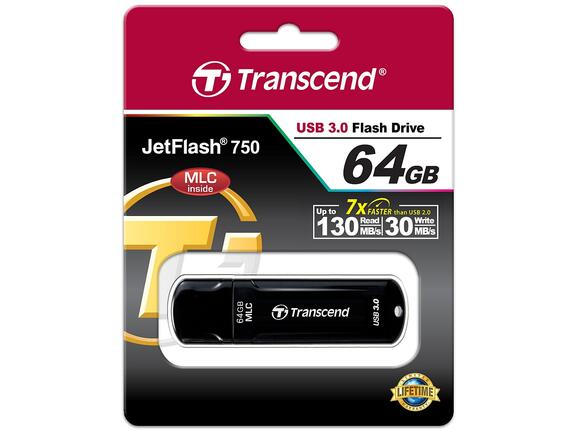Флаш памет Transcend 64GB JETFLASH 750 - 3