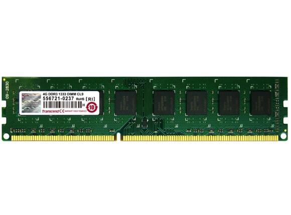 Памет Transcend 4GB 240 pin DIMM DDR3 PC1333 CL9 - 3