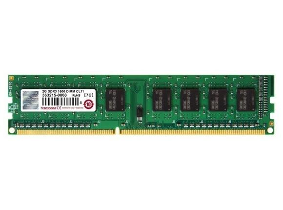 Памет Transcend 2GB 240-pin DIMM DDR3 256Mx64 DDR3-1600 CL11 - 3