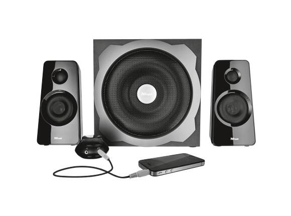 Тонколони TRUST Tytan 2.1 Subwoofer Speaker Set - black - 2