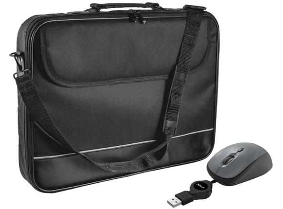 "Чанта TRUST 15-16"" Notebook Bag with mouse"