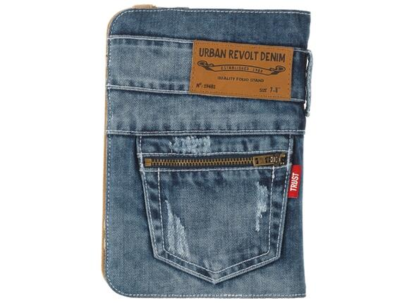 "Калъф TRUST Jeans Folio Stand for 7-8"" tablets - 6"