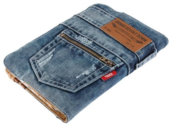"Калъф TRUST Jeans Folio Stand for 7-8"" tablets - 2"