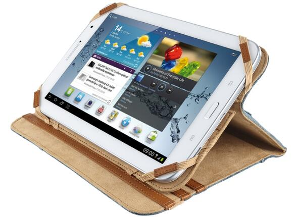 "Калъф TRUST Jeans Folio Stand for 7-8"" tablets - 3"