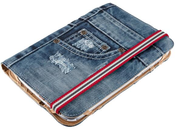 "Калъф TRUST Jeans Folio Stand for 7-8"" tablets"