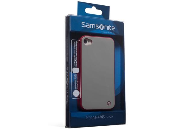 Калъф Samsonite Bi-tone iPhone 4S Grey/Red - 4
