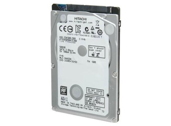 "Твърд диск Hitachi Travelstar Z7K500 2.5"" 7.0mm 500GB SATA 5400rpm"