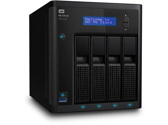 Storage(NAS) HDD 0TB LAN 1000Mbps NAS MyCloud EX4100 4-bay 2xGigabit + 2xUSB 3.0 (up to 24TB)