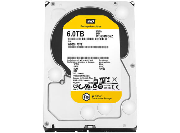 Твърд диск HDD 6TB SATAIII WD RE 7200rpm 128MB for servers (5 years warranty)