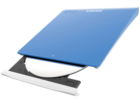 Оптично устройство Samsung Samsung External DVD+/-RW SLIM, USB, Blue, Retail kit - 3