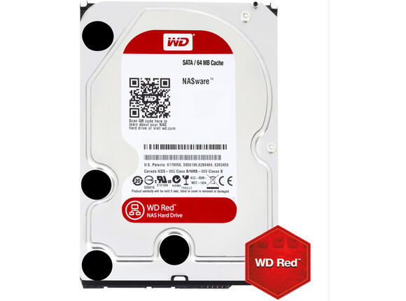 Твърд диск HDD 4TB SATAIII WD Red 64MB for NAS (3 years warranty)