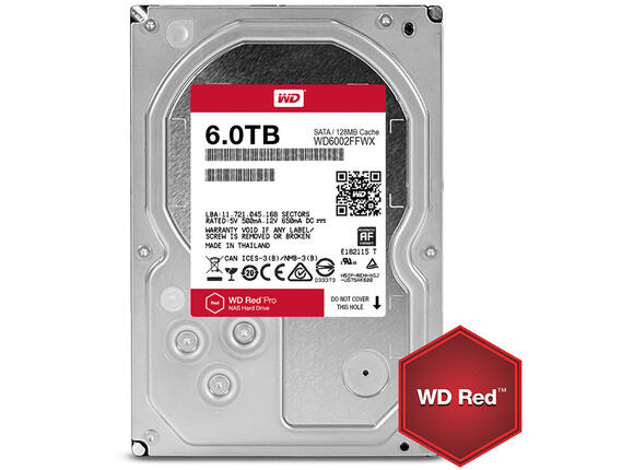 Твърд диск HDD 6TB SATAIII WD Red PRO 7200rpm 128MB for NAS and Servers (5 years warranty)