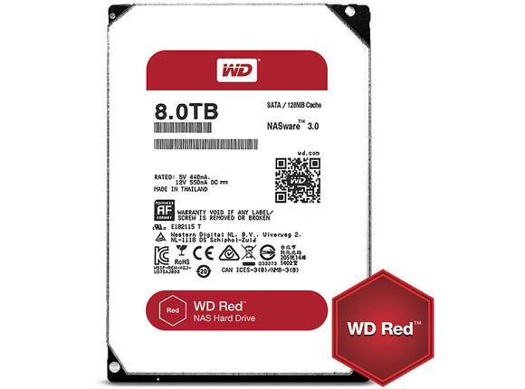 Твърд диск HDD 8TB SATAIII WD Red 128MB for NAS (3 years warranty)