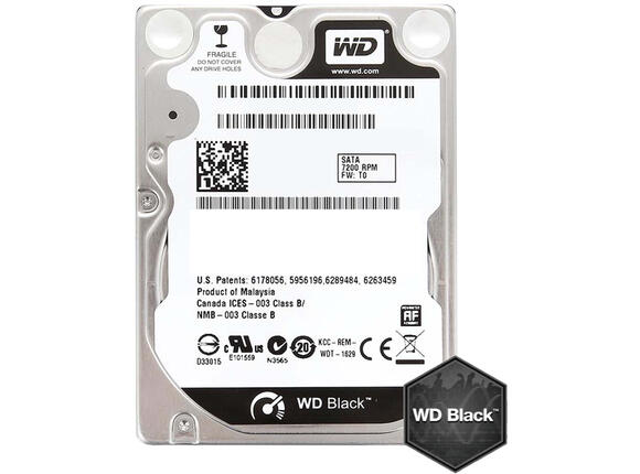 "Твърд диск HDD 1TB WD Black 2.5"" SATAIII 32MB 7200rpm (5 years warranty)"