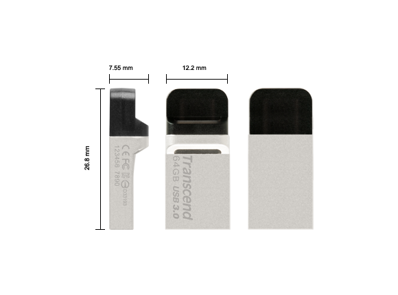 Флаш памет Флаш памет Transcend 64GB JetFlash 880 On-The-Go for ANDROID - 3
