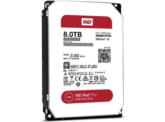 Твърд диск HDD 8TB SATAIII WD Red PRO 7200rpm 128MB for NAS and Servers (5 years warranty)