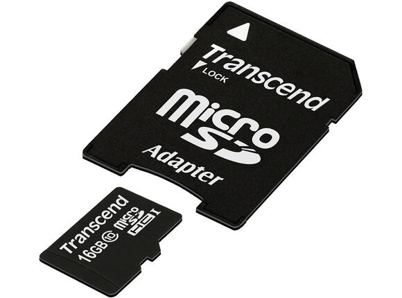 Флаш карта Памет Transcend 16GB microSDHC Class10 with adapter - 2