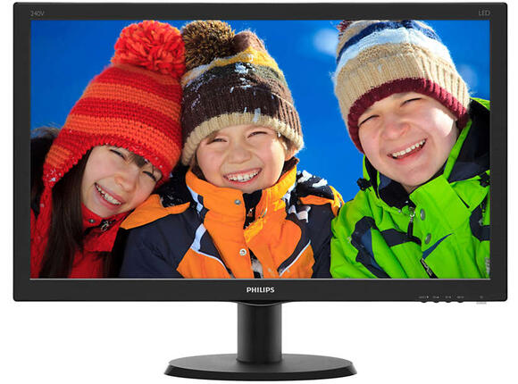 "Монитор Philips 23.8"" IPS-ADS LCD W-LED 1920x1080 FullHD 16:9 5ms 250cd"