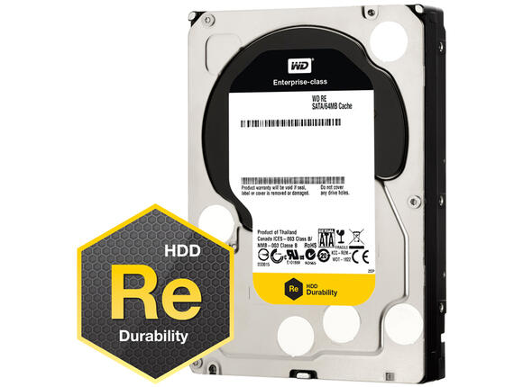 Твърд диск HDD 1TB SATAIII WD RE 7200rpm 64MB for servers (5 years warranty)