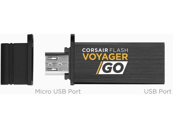 Флаш памет Corsair Flash Voyager GO 32GB for ANDROID USB3.0 micro USB OTG Flash Drive CMFVG-32GB-EU - 2