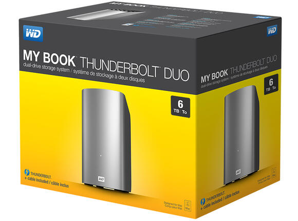 Твърд диск HDD 6TB My Book Thunderbolt Duo 2x3TB RAID + cable