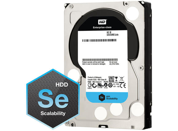 Твърд диск HDD 4TB SATAIII WD SE 7200rpm 64MB for servers (5 years warranty)